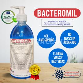 BACTEROMIL GEL hidroalcoholico desinfectante de manos sin aclarado 500ml
